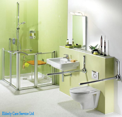 Aids and Adaptations - Disabled Bathroom, Level Access Walk-in ...